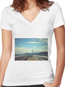 Walk With Me Women's Fitted V-Neck T-Shirt