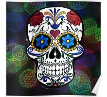 Skull with Bokeh Background Poster