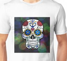 Skull with Bokeh Background Unisex T-Shirt
