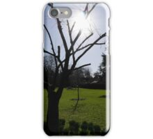 Sun through the Trees at Rowntree Park iPhone Case/Skin