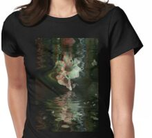Camellia Immersed Womens Fitted T-Shirt