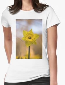 Spring Daffodil Womens Fitted T-Shirt