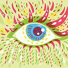 Front Looking Psychedelic Eye by Boriana Giormova