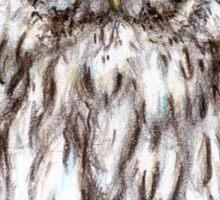 Ural white owl Sticker