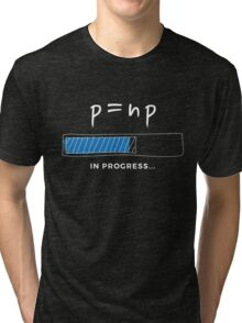 P versus NP problem in progress Graphic T-shirt  Tri-blend T-Shirt