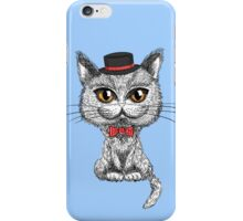 British cat hipster iPhone Case/Skin