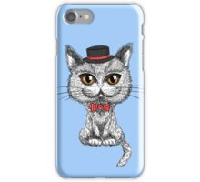 British cat hipster iPhone Case/Skin