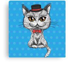 British cat hipster Canvas Print