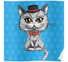 British cat hipster Poster