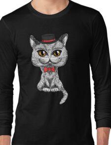 British cat hipster Long Sleeve T-Shirt