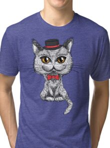 British cat hipster Tri-blend T-Shirt