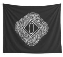 1920s Jazz Deco Swing Monogram black & silver letter O Wall Tapestry