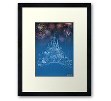 Theme Park Castle Framed Print