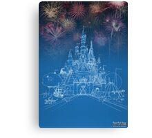 Theme Park Castle Canvas Print