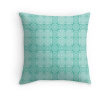 Mandala - Lace (Tiffany blue) Throw Pillow
