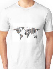 Beach world map Unisex T-Shirt