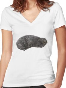 Southern fur seal Women's Fitted V-Neck T-Shirt