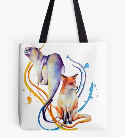 Duality - Otter/Fox Mash Up Tote Bag
