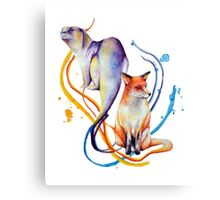Duality - Otter/Fox Mash Up Canvas Print