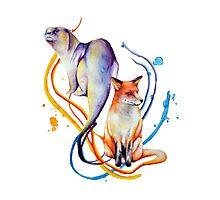 Duality - Otter/Fox Mash Up Photographic Print