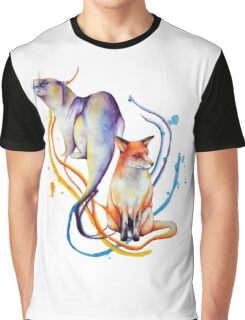 Duality - Otter/Fox Mash Up Graphic T-Shirt
