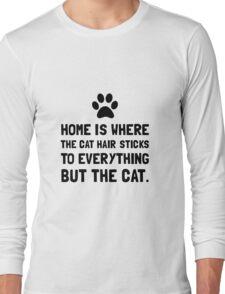 Cat Hair Sticks Long Sleeve T-Shirt