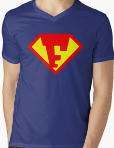 Super F Mens V-Neck T-Shirt