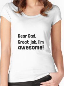 Dad I'm Awesome Women's Fitted Scoop T-Shirt