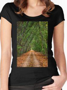 Nestos riverside road - Macedonia, Greece. Women's Fitted Scoop T-Shirt