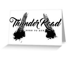 Thunder Road Tires - Light Greeting Card