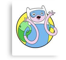 Adventure Time Finn - SCIENCE Canvas Print