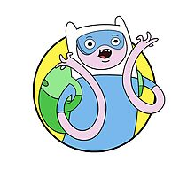Adventure Time Finn - SCIENCE Photographic Print