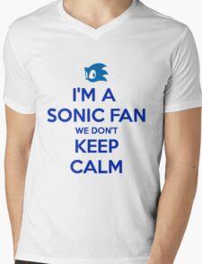 Sonic Fans Don't keep Calm T-shirt Mens V-Neck T-Shirt