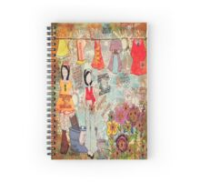 Mixed Media Wash Day  Spiral Notebook