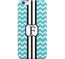 F Turquoise Chevron II iPhone Case/Skin