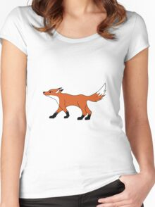 cute fox Women's Fitted Scoop T-Shirt