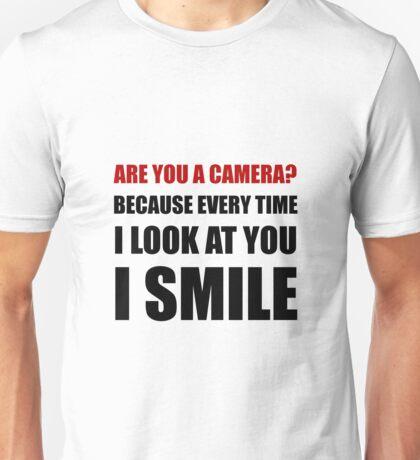 Camera Smile Unisex T-Shirt
