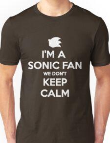 Sonic Fans Don't keep Calm B/W Edition Unisex T-Shirt