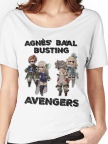 Bravely Second - Agnès' Ba'al Busting Avengers (Thug ver.) Women's Relaxed Fit T-Shirt