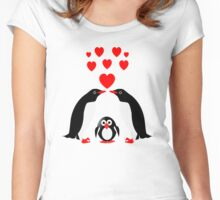 Penguins family Women's Fitted Scoop T-Shirt