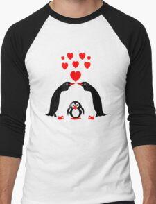 Penguins family Men's Baseball ¾ T-Shirt