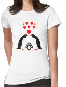 Penguins family Womens Fitted T-Shirt