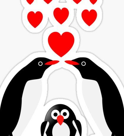 Penguins family Sticker