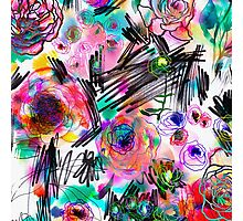 Graffiti flowers Photographic Print
