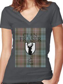 Outlander/Clan Fraser Women's Fitted V-Neck T-Shirt