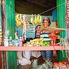 Local Produce Doorway Stand in Trinidad, Cuba by Robert Kelch, M.D.