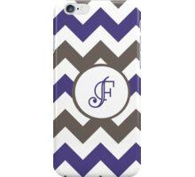 Purple Chevron F iPhone Case/Skin