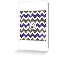 Purple Chevron F Greeting Card