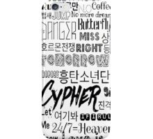 BTS Song design #1 iPhone Case/Skin