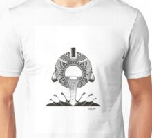 Aquarius Water-bearer Design in Black and White Unisex T-Shirt